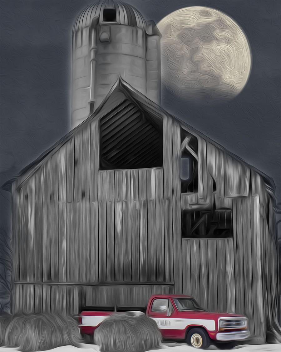 Evening at the Barn  Print