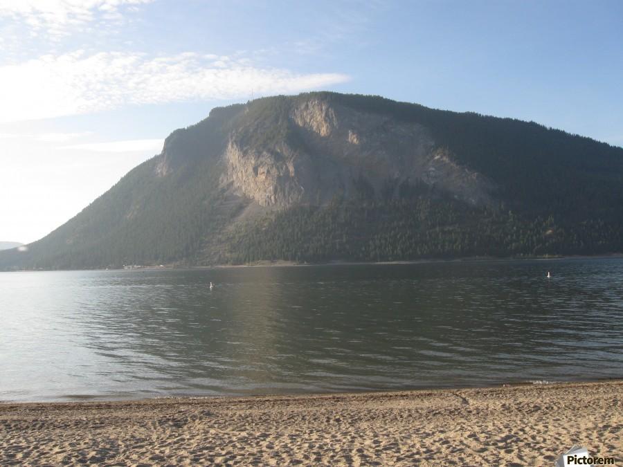Mount Ida On The Beach  Print