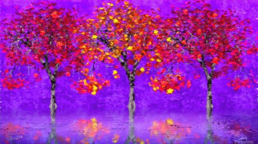 When autumn leaves start to fall  Print