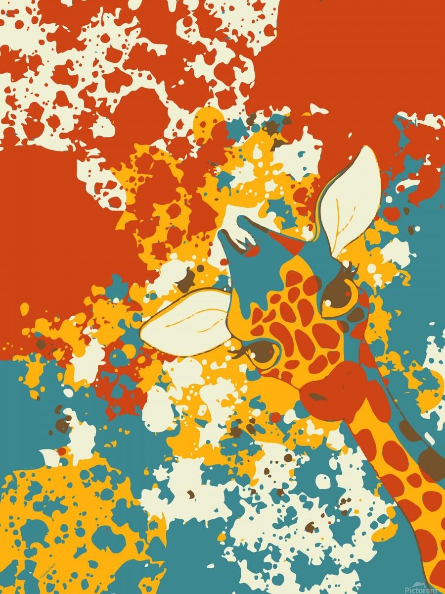 Cute Giraffe Abstract  Print