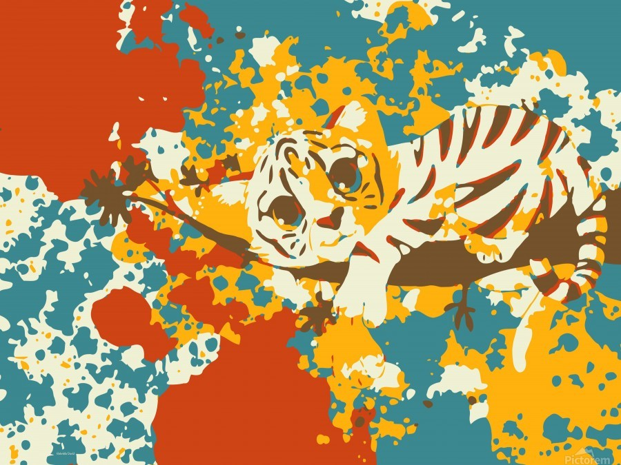 Little Tiger Abstract   Print