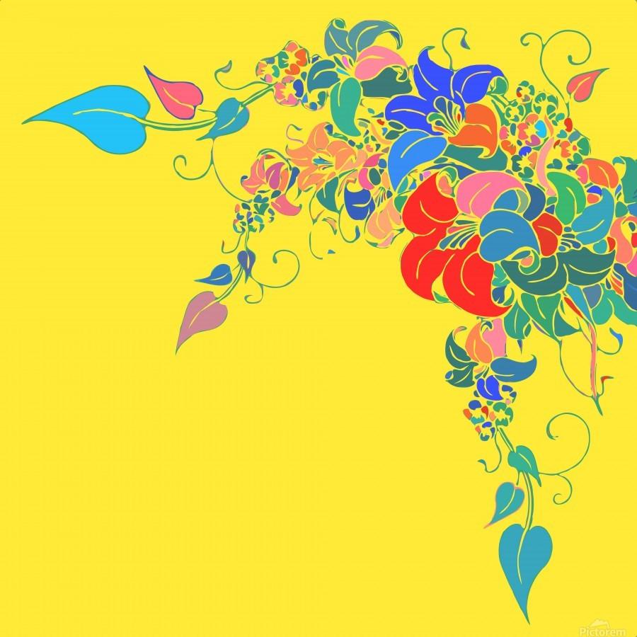 Vibrant Floral Design   Print