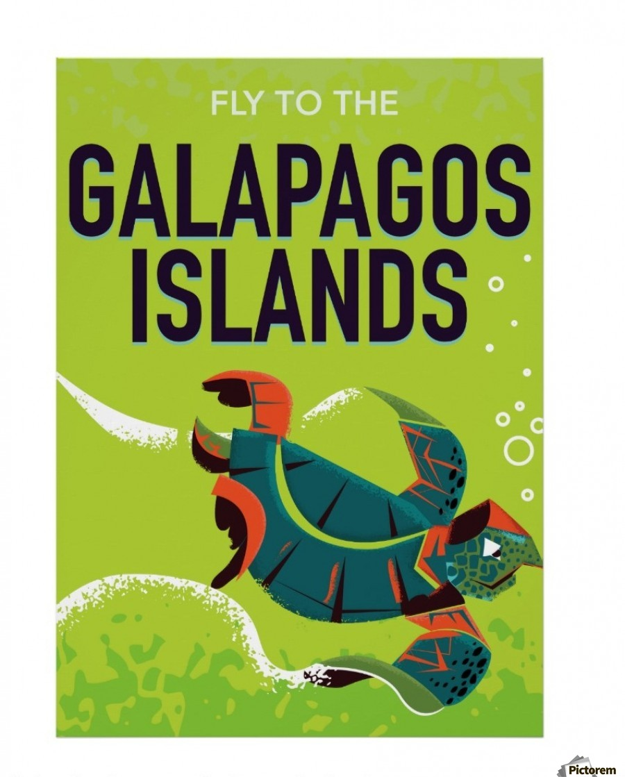 Vintage Travel Trailers: Galapagos Islands Vintage Travel Poster