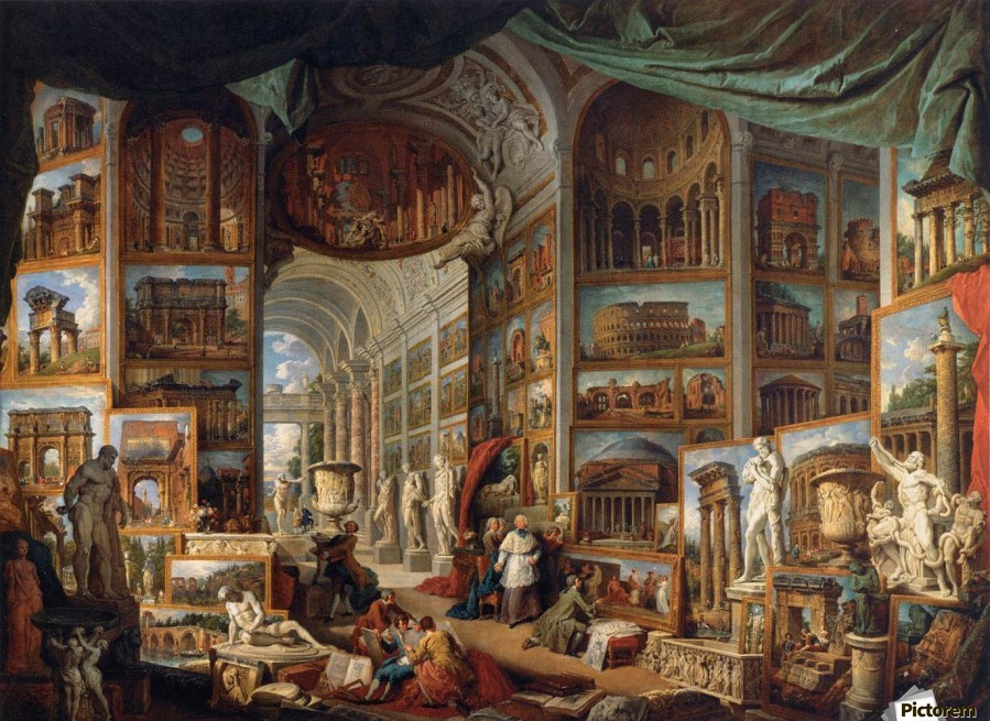 Gallery of views ancient rome giovanni paolo panini