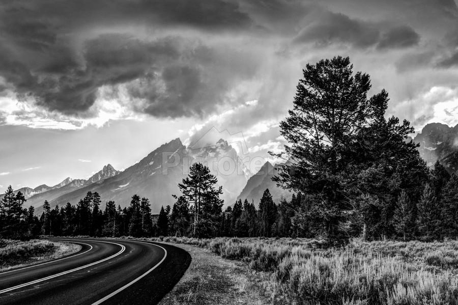 Grand Teton National Park Storm - Jackson Hole - Wyoming  Print