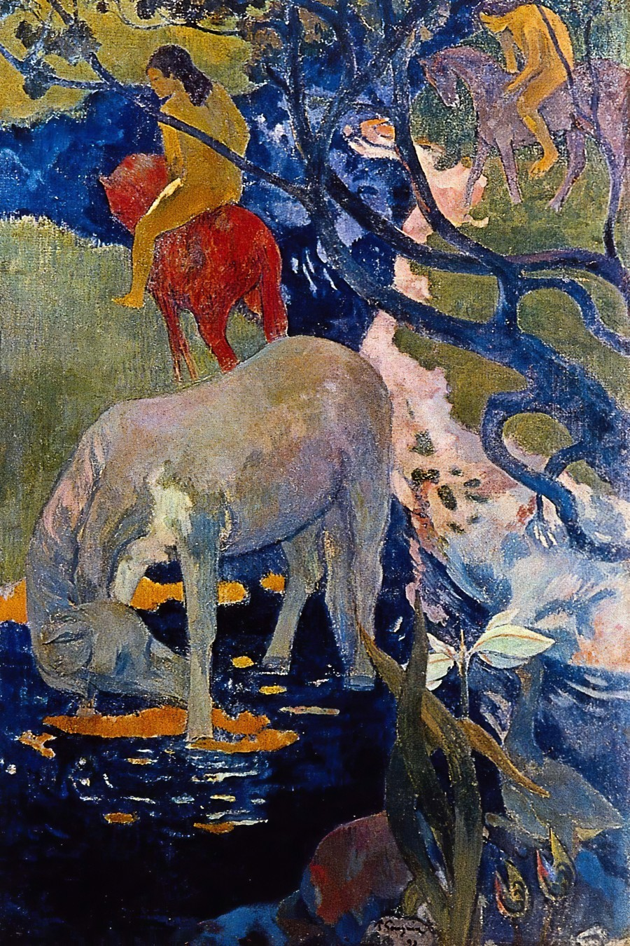 The White Horse by Gauguin  Print