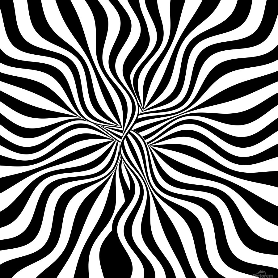 BACK WHITE LINES - George Bloise - Canvas Artwork