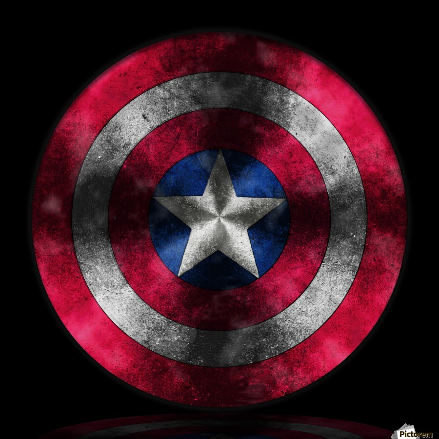 Captain America Shield digital painting
