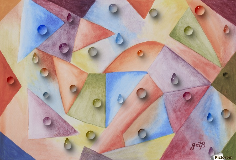 Rainbow Water Drops  Print