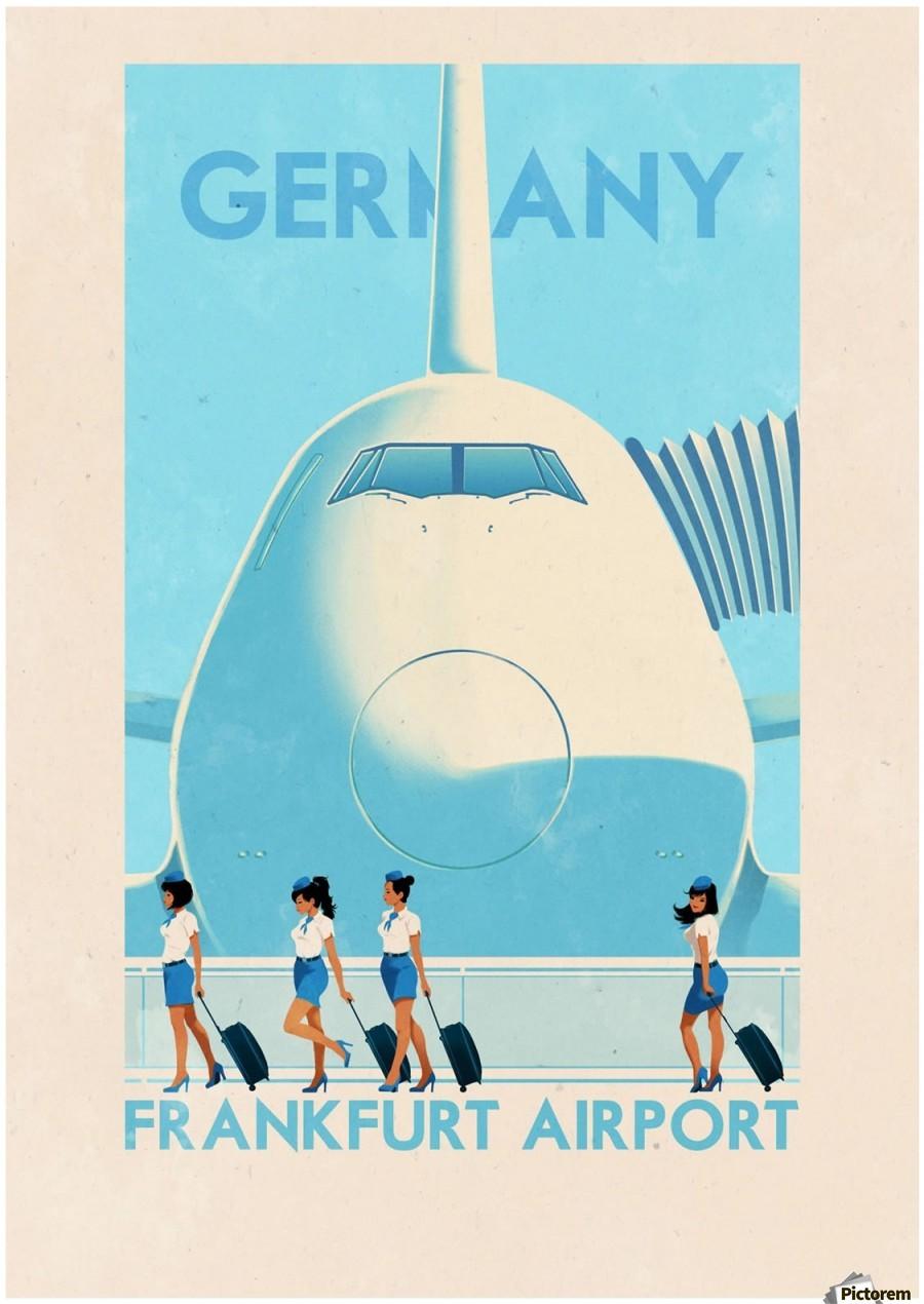 Germany Frankfurt Airport Vintage Poster Vintage Poster