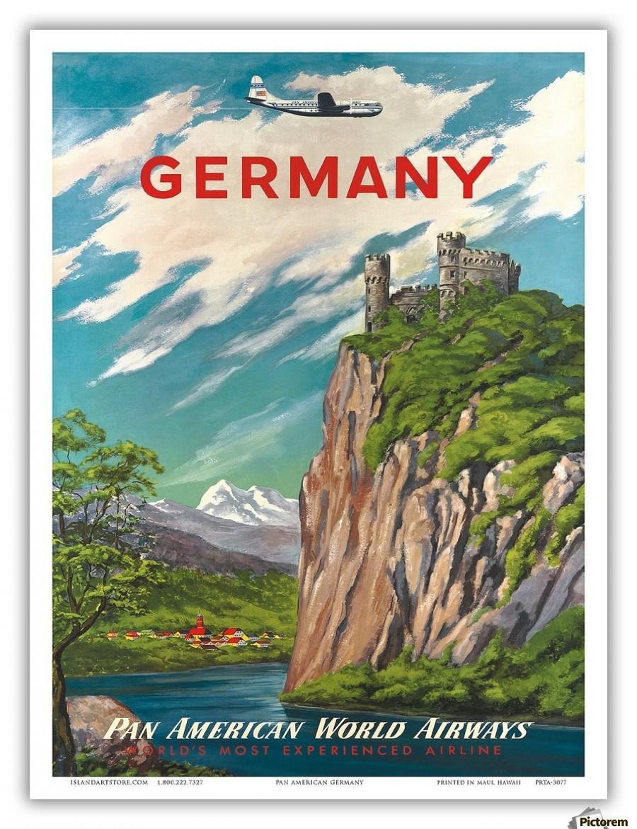 Germany Pan American World Airways vintage travel poster - VINTAGE ...