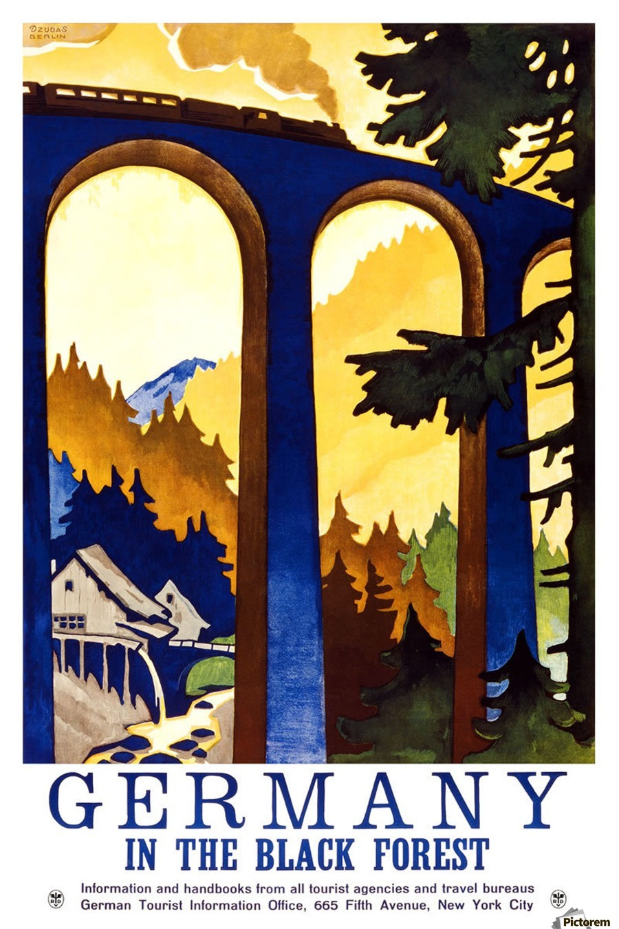 Germany Vintage Travel Poster Vintage Poster Canvas