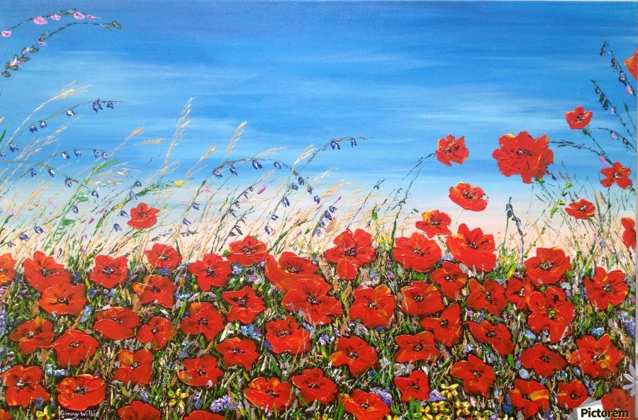 Poppies in the Wind  Print
