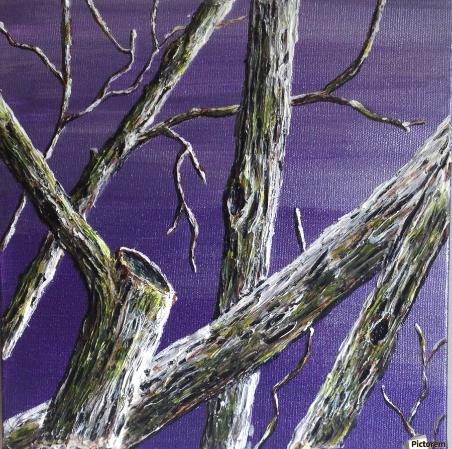 10 Squared branches 10 squared 2 - ginny wilkie - canvas artwork