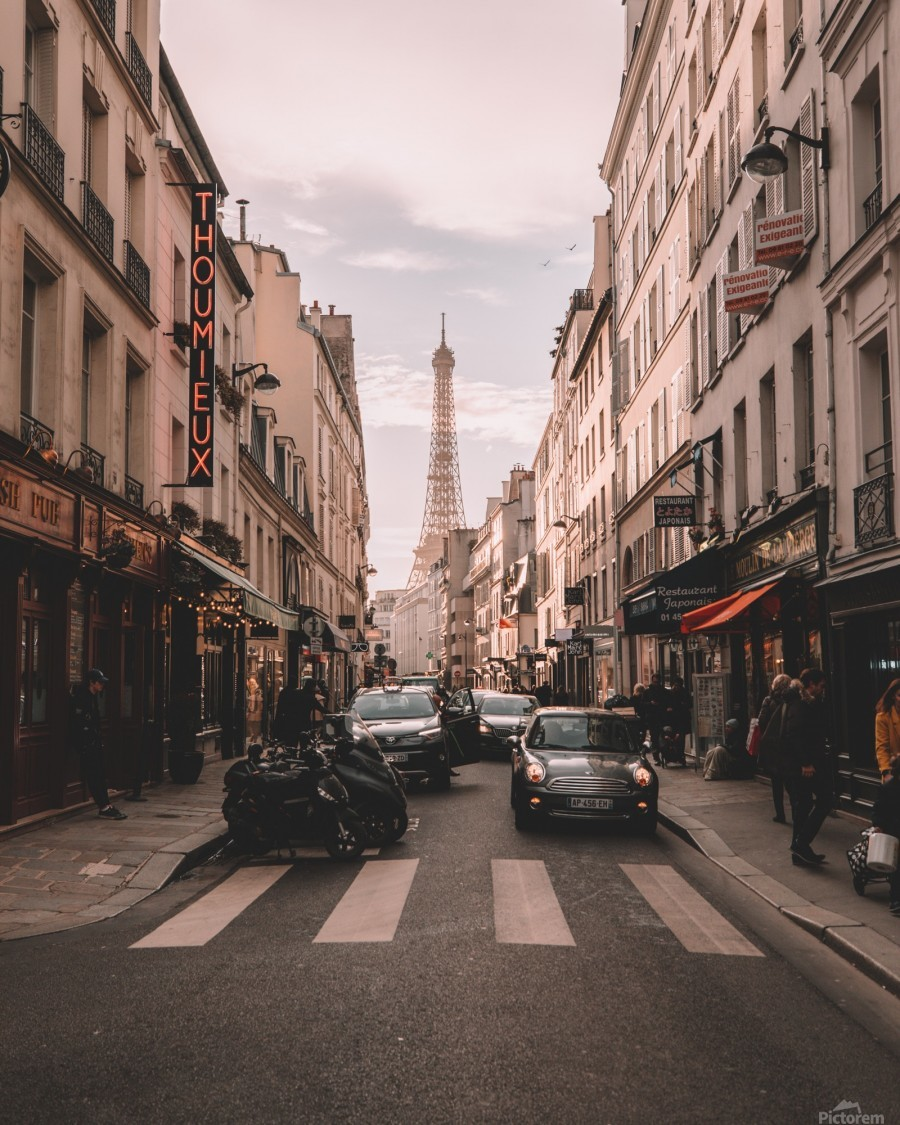 Paris Streets With Eiffel Tower Gorgeousworld Store Canvas