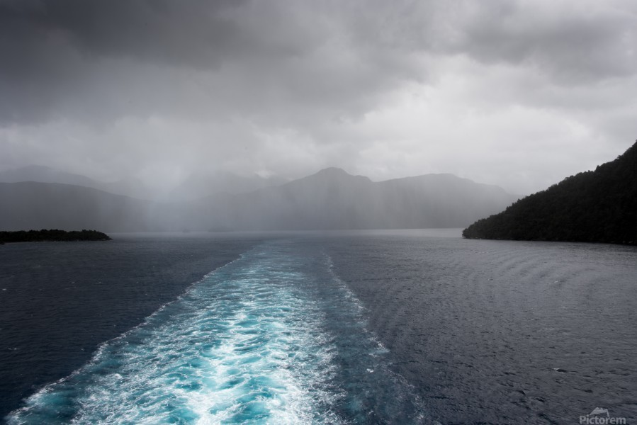 Leaving Fiordland New Zealand  Print