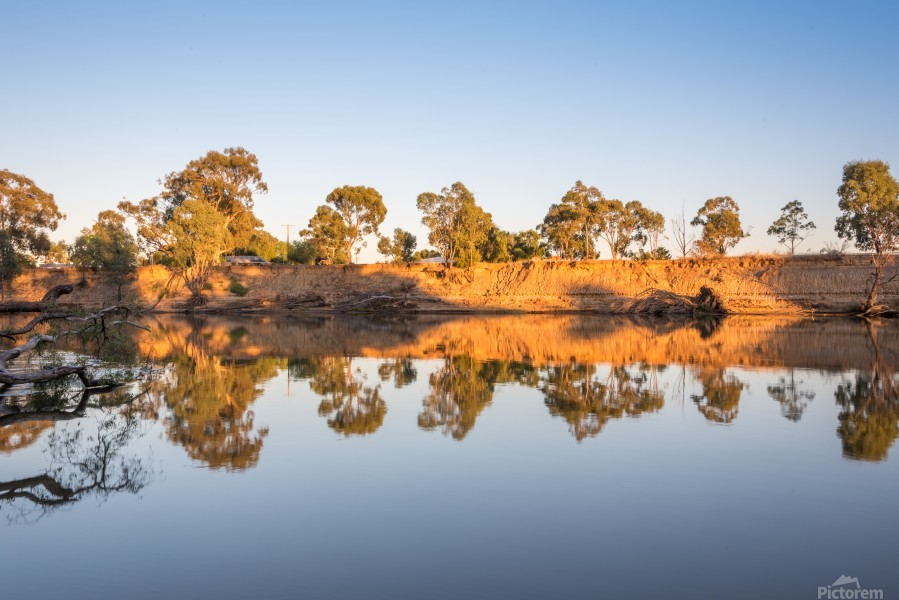 Reflections on the Murray River  Print
