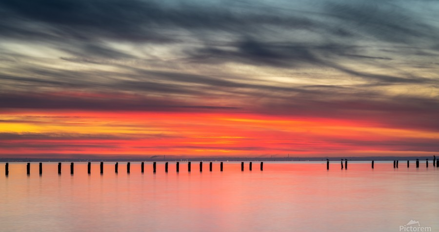 Striking Sunset at Clifton Springs  Print