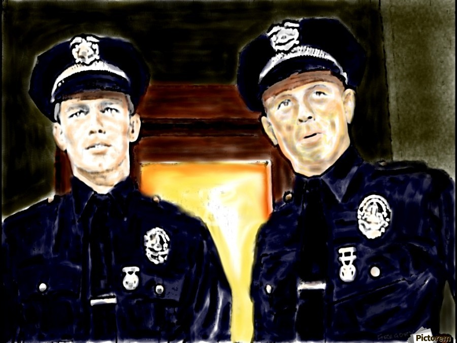 Cops  by J Gregory  Print