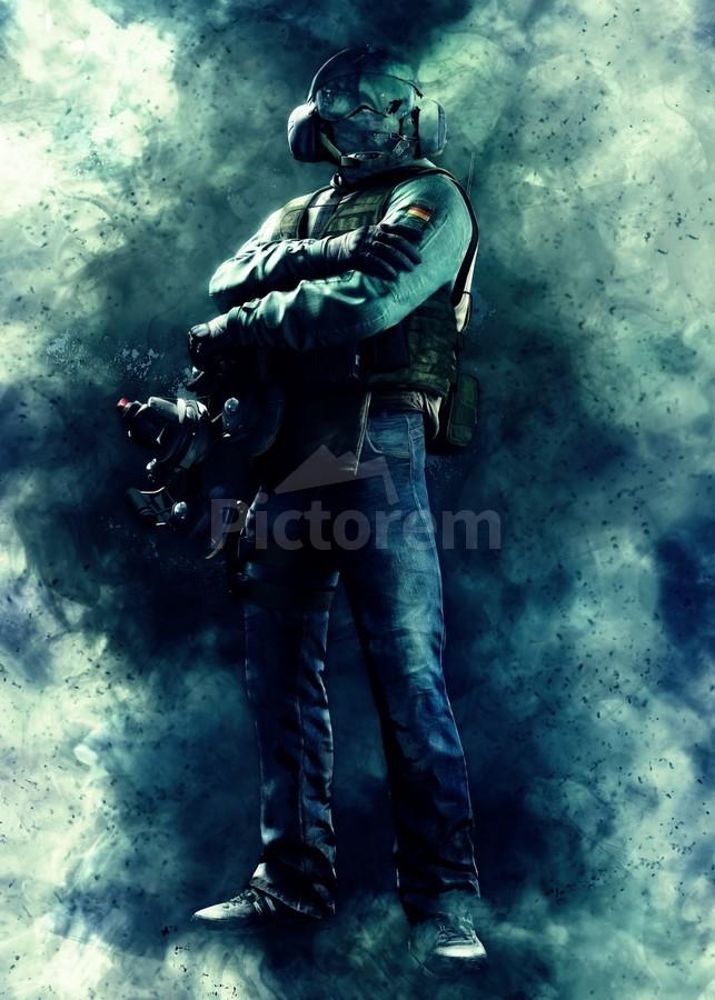 Jager Operator From Rainbow Six Siege Game Gunawan Rb