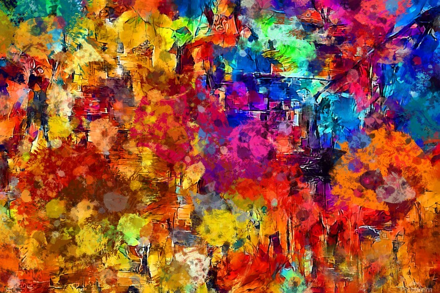 Autumn Leaves Abstract   Print