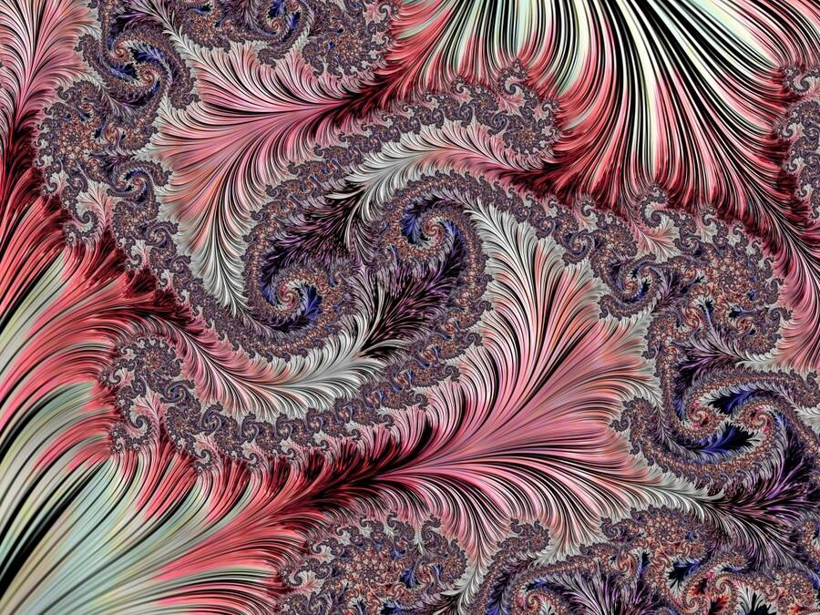 Fractal Art-Silk Brocade  Print