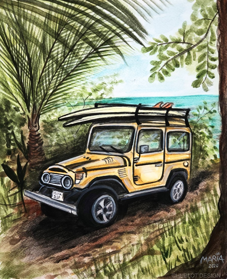 Collection COSTA RICA-Jeep  Imprimer