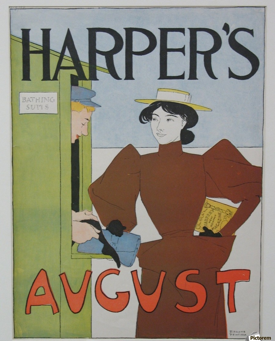 Harper's August Bathing  Print