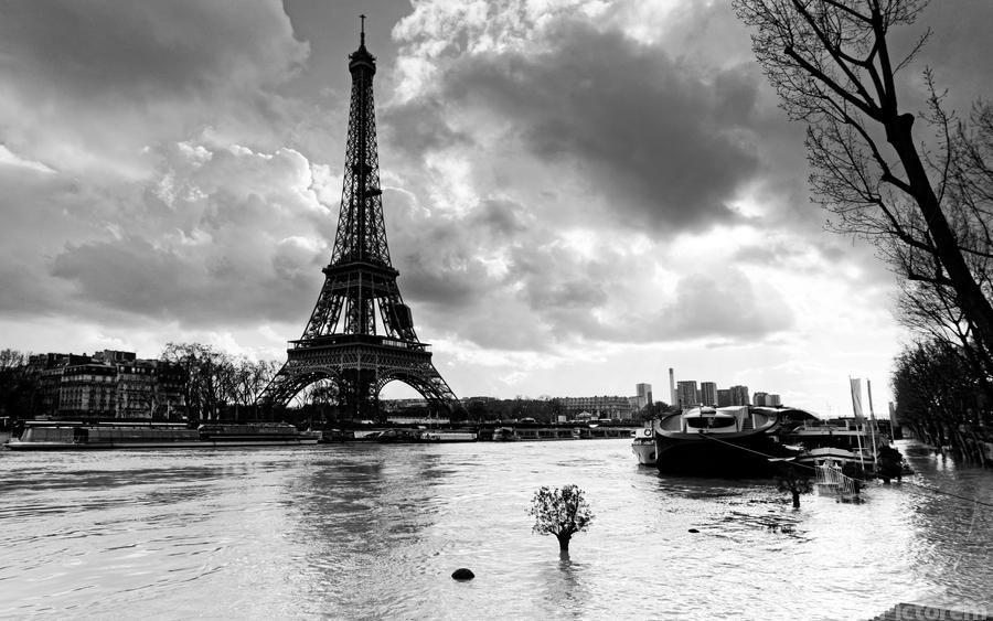 Eiffel tower flood  Imprimer