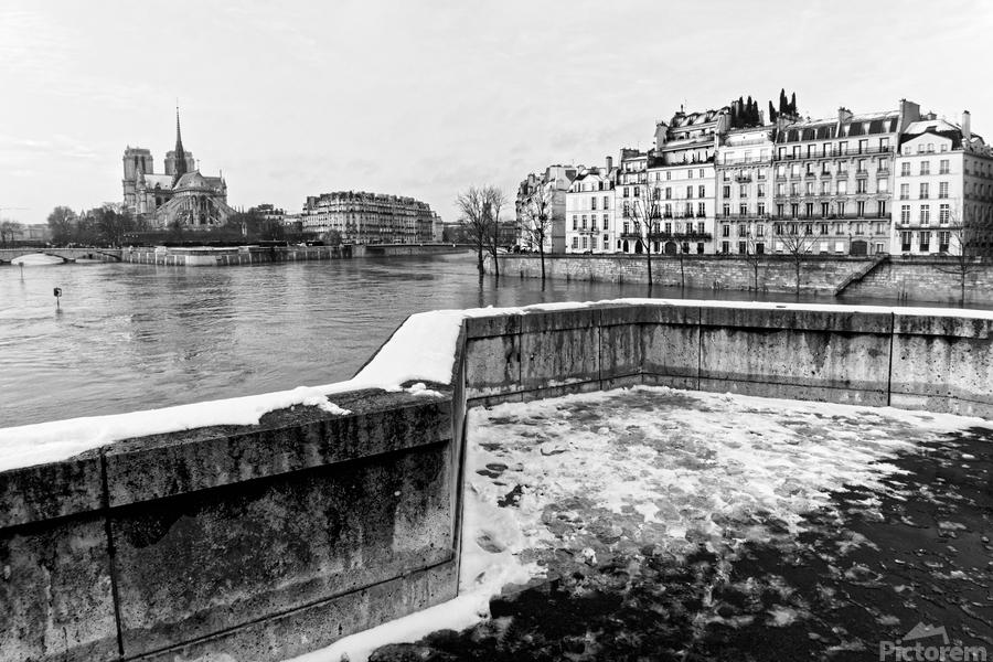 Snowy bridge                          Imprimer
