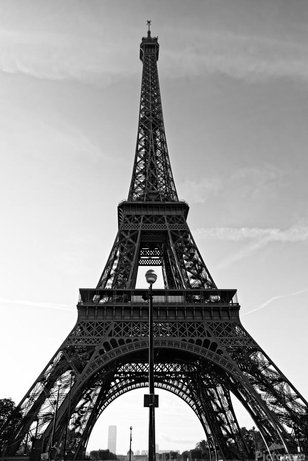Eiffel tower in black   Imprimer