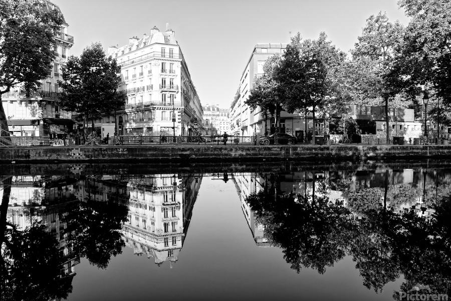 Canal Saint Martin reflection  Imprimer