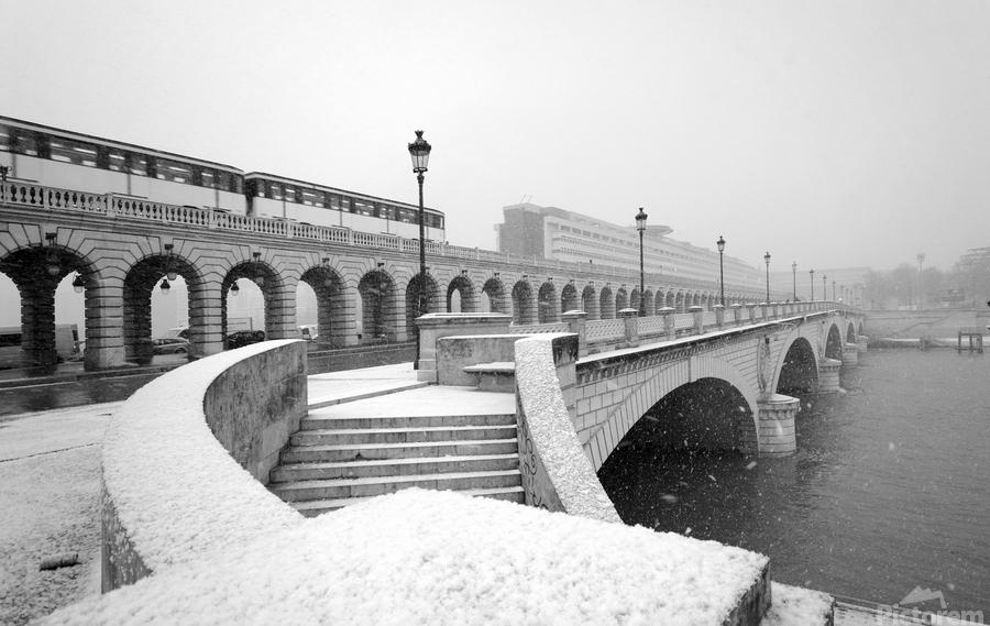 Paris under snow  Imprimer
