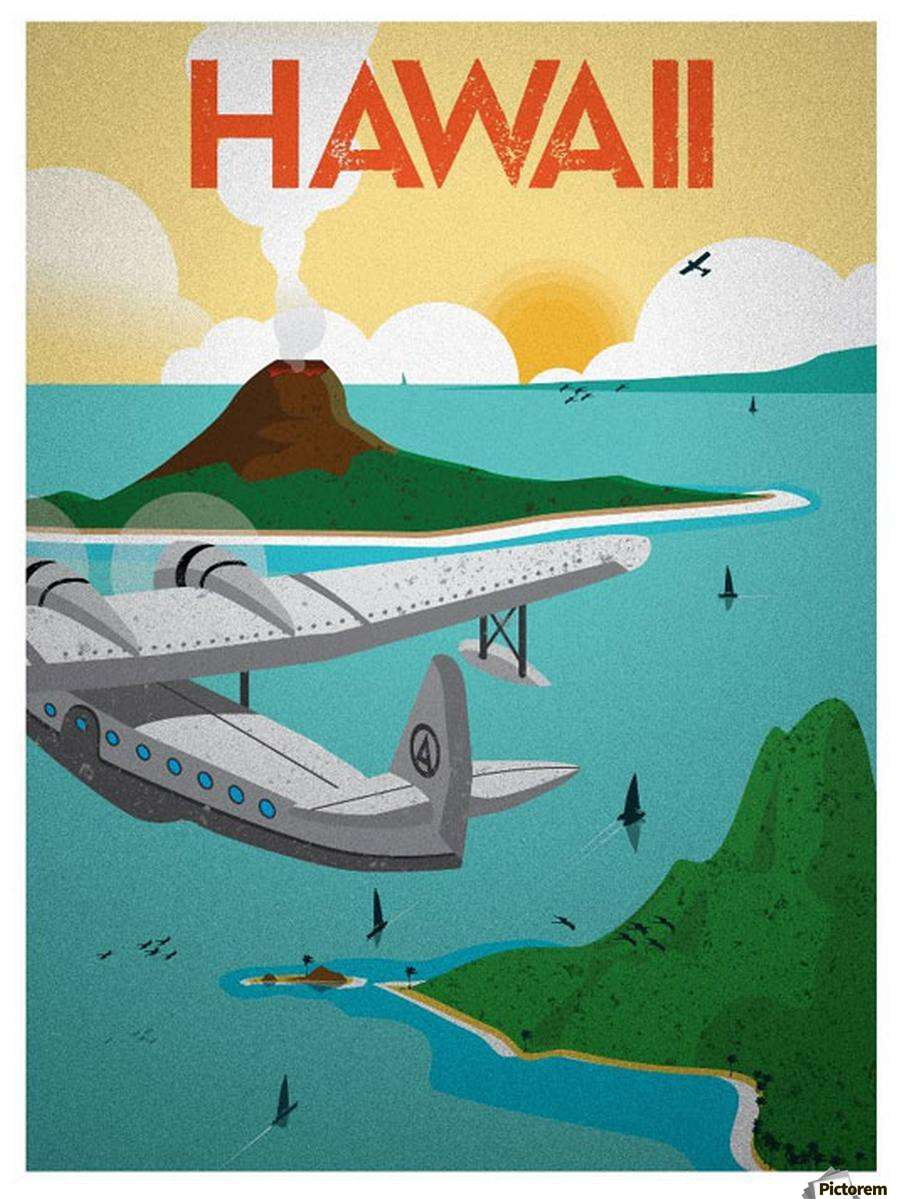 Vintage Hawaii Travel Poster 111