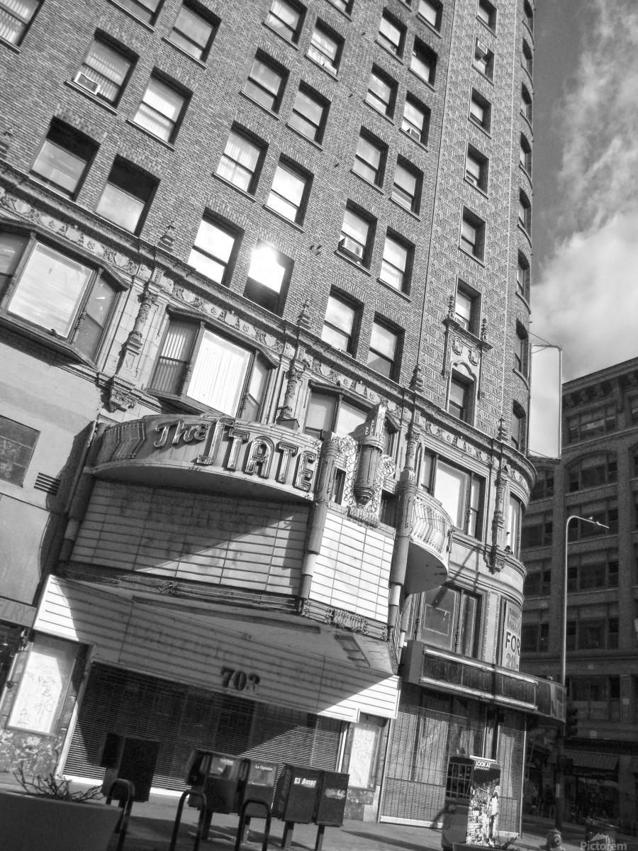 B&W The State Theatre - DTLA  Print