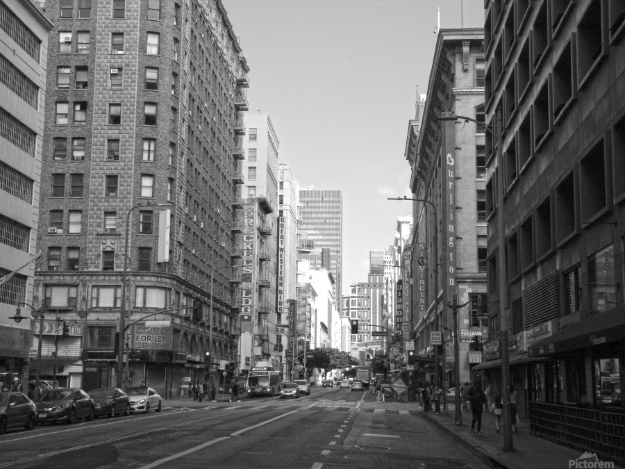 7th & Broadway DTLA - B&W  Print