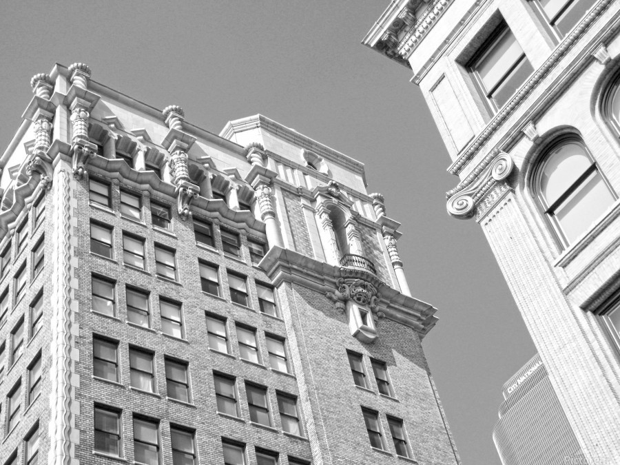 DTLA South Broadway & West 3rd - B&W  Print