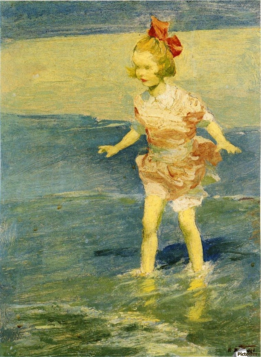 In the Surf - Edward Henry Potthast Canvas