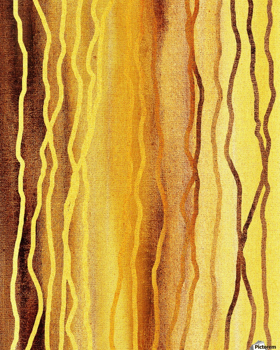 Organic Lines Beige Abstract  Print