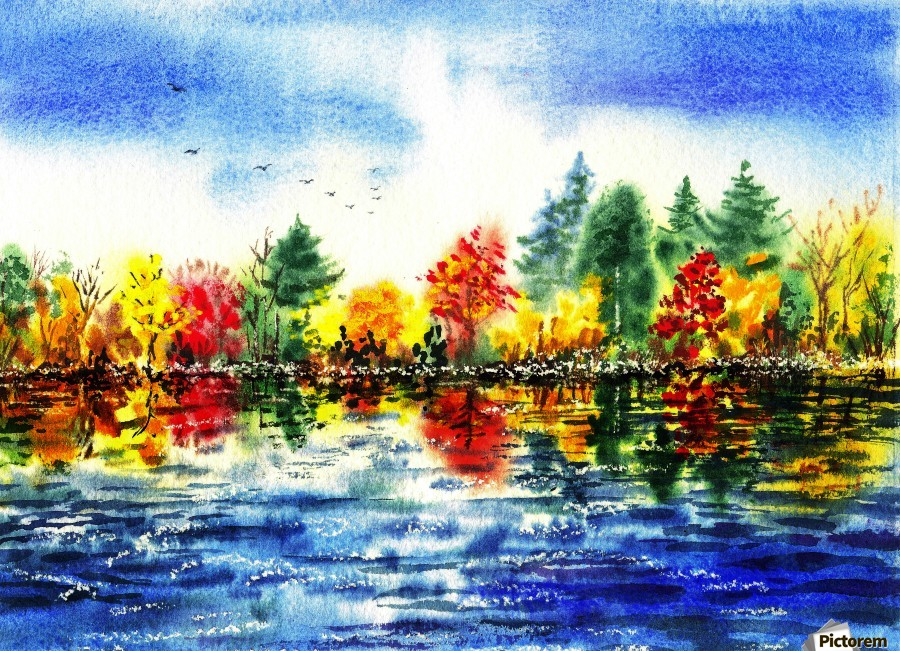 Fall Reflections  Print