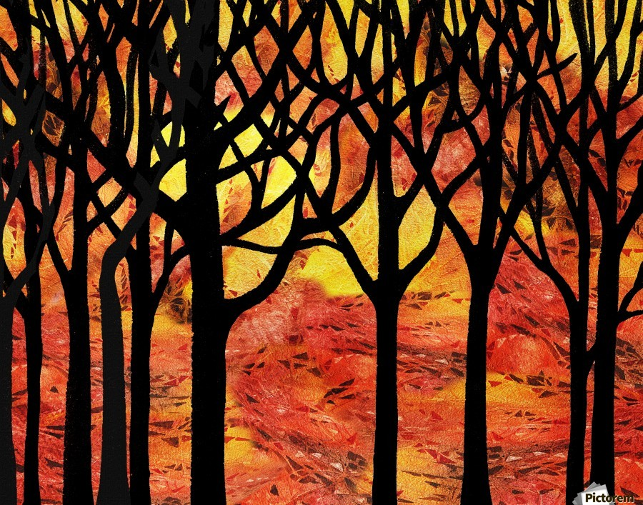 Abstract Fall Forest  Print