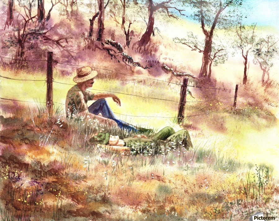 Farmers And Hunters Heaven  Print