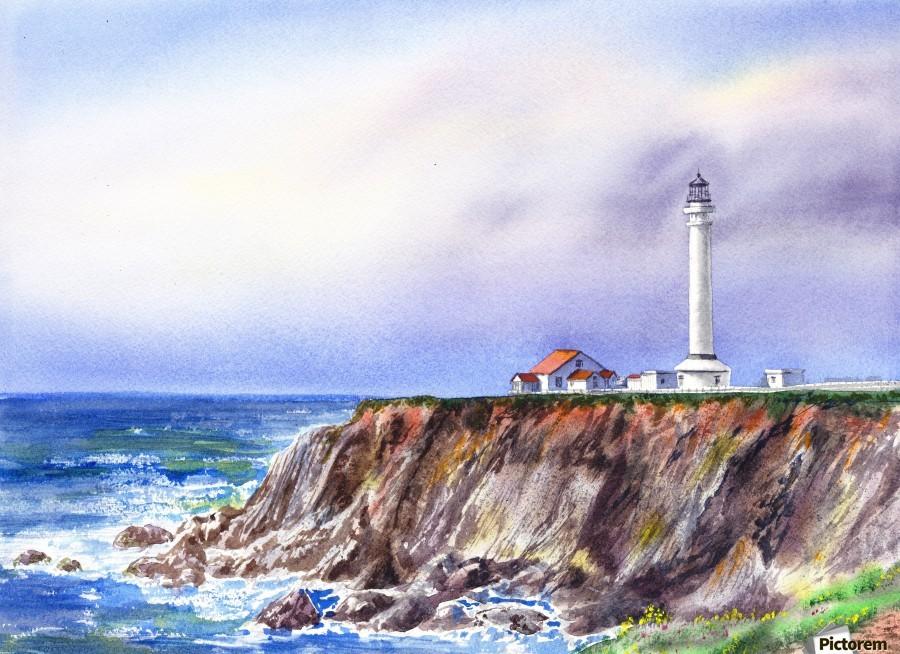Lighthouse Point Arena California   Print