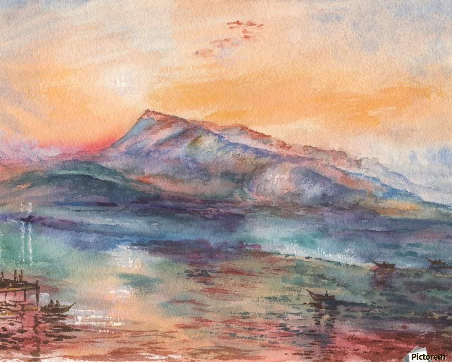 Mount Rigi Switzerland Lake  Print