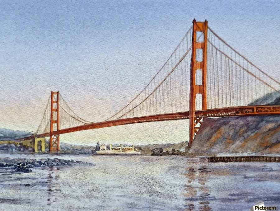 San Francisco California Golden Gate Bridge  Print