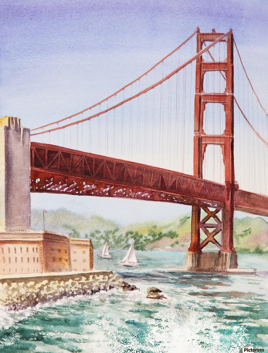 Golden Gate Bridge San Francisco  Print