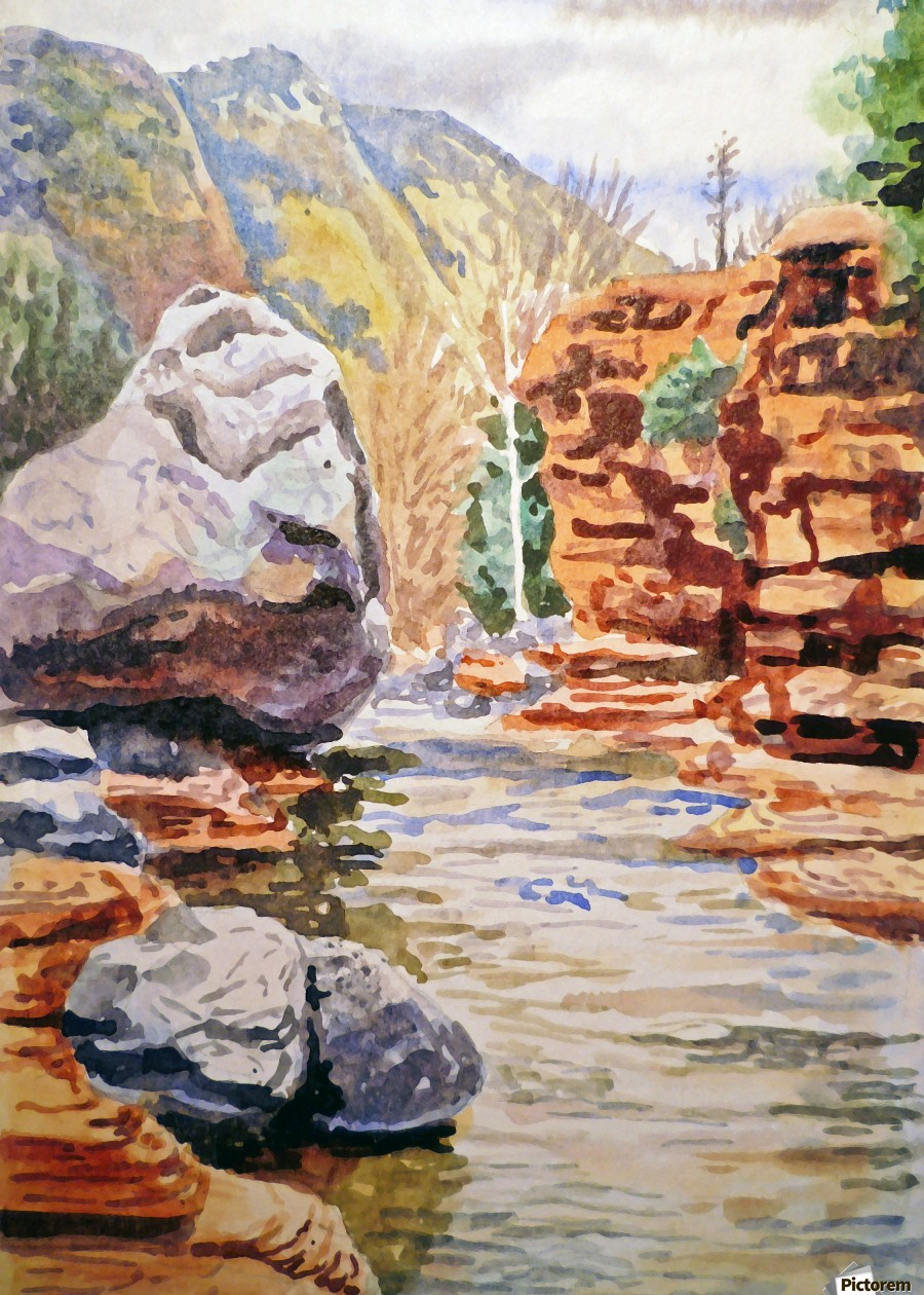 Sedona Arizona Slide Creek  Print