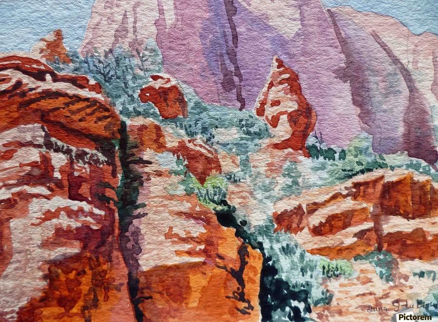 Sedona Arizona Rocky Canyon  Print