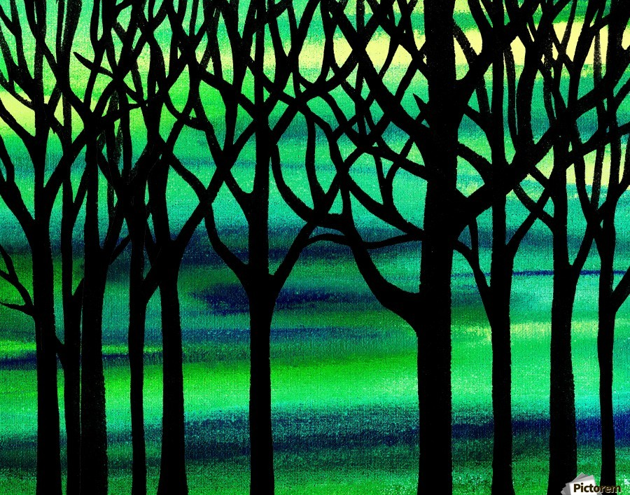 Abstract Spring Forest  Print