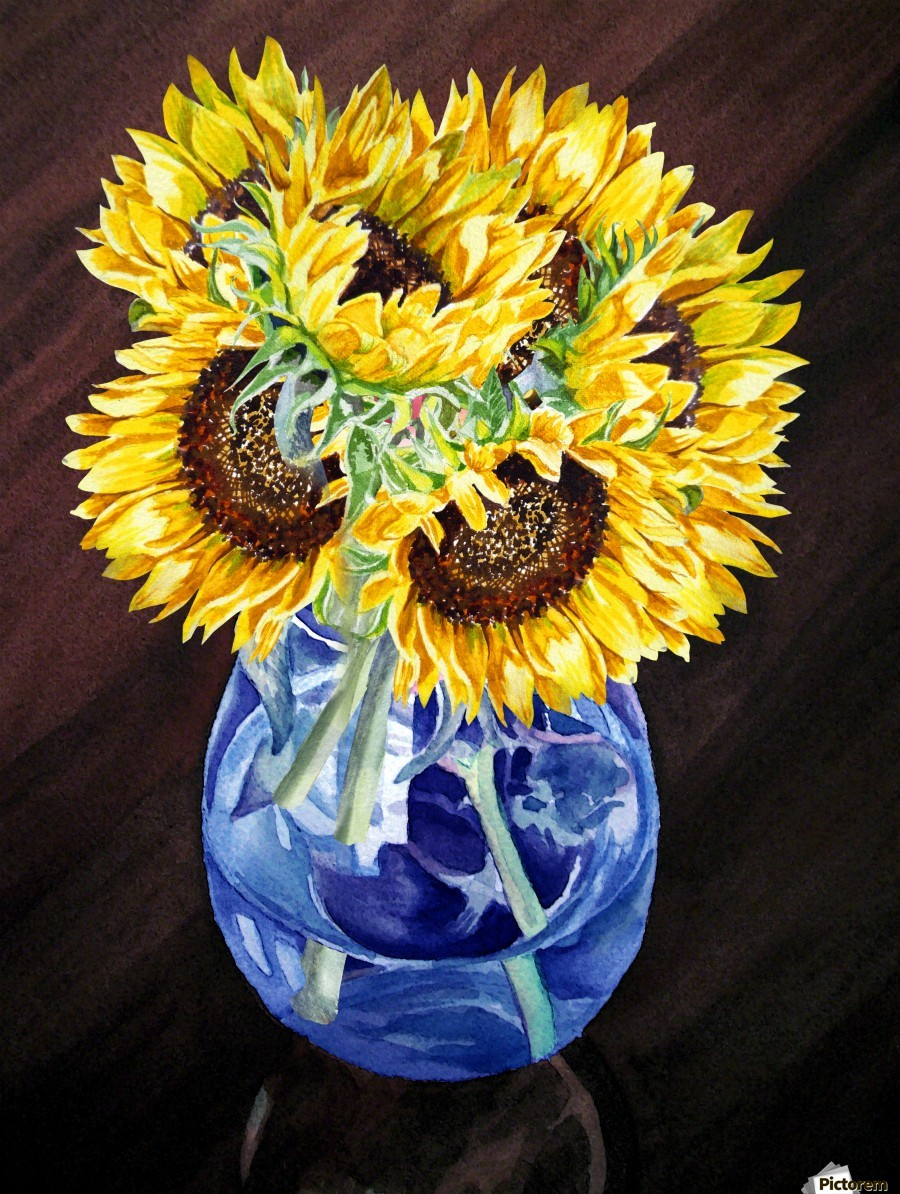 A Bunch Of Sunflowers  Print